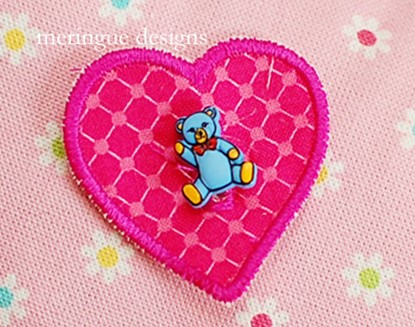 Picture of Buttonhole Heart Patches